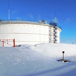Alaska fuel and oil storage tanks